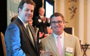 Photo: TBA President-elect Jason Long with Presidential Award winner John Farringer.